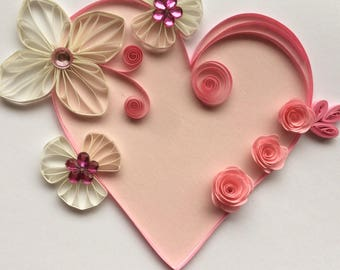 Quilled Cardlove Card Quilling Valentines Anniversary Wedding
