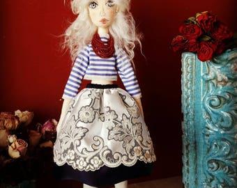 Gabriella 48 cm textile fabric rag selfstanding collectible soft art doll