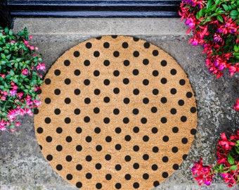 Dot Pattern Circle Doormat