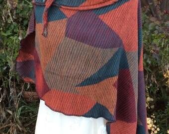 Designer poncho soft asymmetrical cut