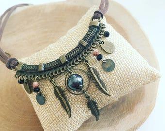 """Bohemian"" Choker bib necklace"