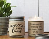 Congratulations On Your Retirement Candle Gift - Retirement Gift | Personalized Retirement Gift | Retirement Card | Scented Candle Gift