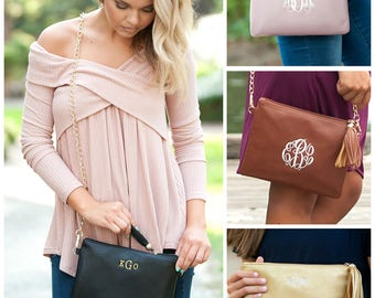 Monogram Clutch, Personalized Clutch, Monogram Purse, Personalized Purse, Clutch Purse, Black Clutch, Gold Clutch, Bridesmaids Gifts, Clutch