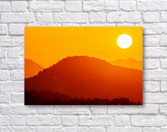 mountain landscape sunset. mountain landscape sunrise print sunset art nature misty d