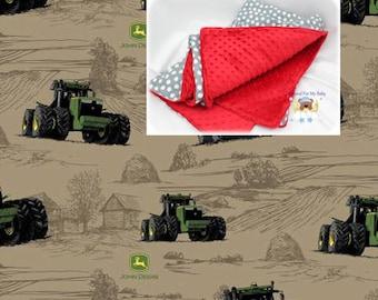 Brown Tractor Blanket Tractor Toddler Bedding Cars Crib Blanket Cotton Minky Blanket Girl Crib Bedding Tractor Crib Bedding