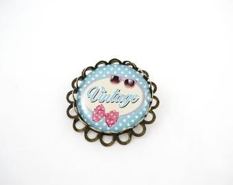 Brooch vintage pin - Vintage retro Rockabilly