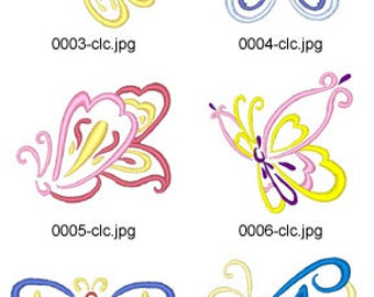 Art-Deco-Butterflies ( 10 Machine Embroidery Designs from ATW ) XYZ17E