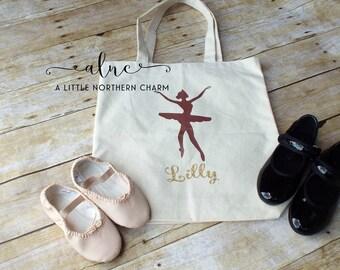 Personalized Dance Bag, Custom Dance Bag, Ballerina Dance Bag, Dance Bag, Monogram Ballerina Dance Bag, Ballerina Bag