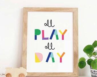 Playroom Wall Art, Letu0027s Play, Nursery Decor, Playroom Decor, Playroom Sign,