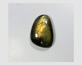 Natural Labradorite Cabochon Loose Gemstone Fancy Shape Blue Fire Labradorite Gemstone 28X19X6mm 29 Cts