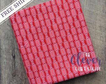 SALE! Quilting Fabric, Geometric Red - Ardently Austen, Amanda Herring, Riley Blake Designs, Yardage