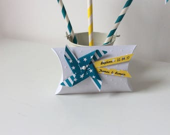 Box dragees windmill turquoise