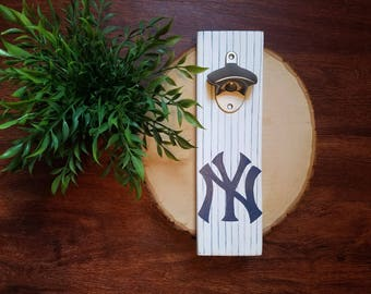 Hand Painted New York Yankees Bottle Opener