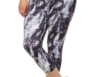 SALE!! Plus Size Workout Leggings, Pilates Leggings, Womens Yoga Leggings, Chic Fashion Workout Leggings