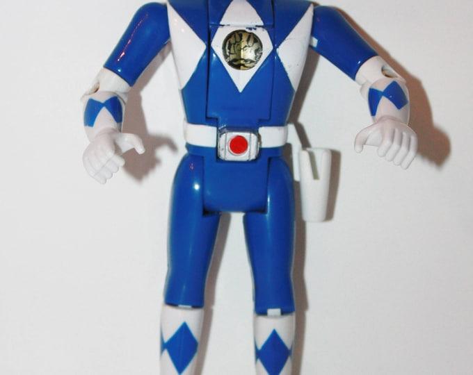 RARE MMPR Power Rangers Auto Morphin Flip Head Billy Blue Action Figure VHTF Bandai 1993