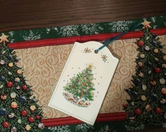 Vintage CHRISTMAS Porcelain TRIVET And Wall DECOR, Christmas Wall Hanging, Christmas Tree Wall Decor, Salem Porcelain Wall Decor