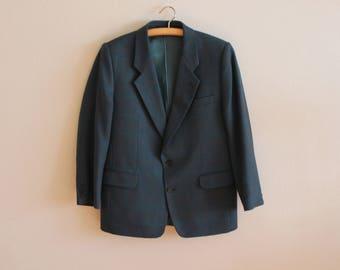 Men's Sport Coat Wool Sport Blazer Men Wool Blazer Sea Green Blazer Green Vintage Jacket Urban Casual Hipster Boyfriend Suit Jacket Gift
