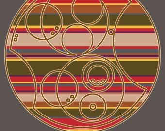 "Circular Gallifreyan Print - 8x10 - Fourth Doctor - ""Jelly Baby?"""