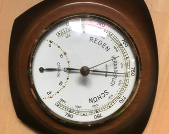 Midcentury Lufft Thermo-and barometer