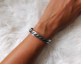 Vintage Sterling Silver Women's Cuff Bracelet