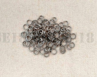 4mm Stainless Steel Split Ring Bulk Split Ring Double Loop Jump Ring 1000 PCS Jewelry Making Supplies Wholesale