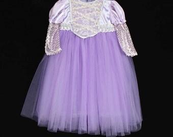 Rapunzel Costume, Tangled Inspired Costume, Rapunzel Dress, Princess Dress, Tangled Dress, Rapunzel Tutu Dress, Disney Princess Costume