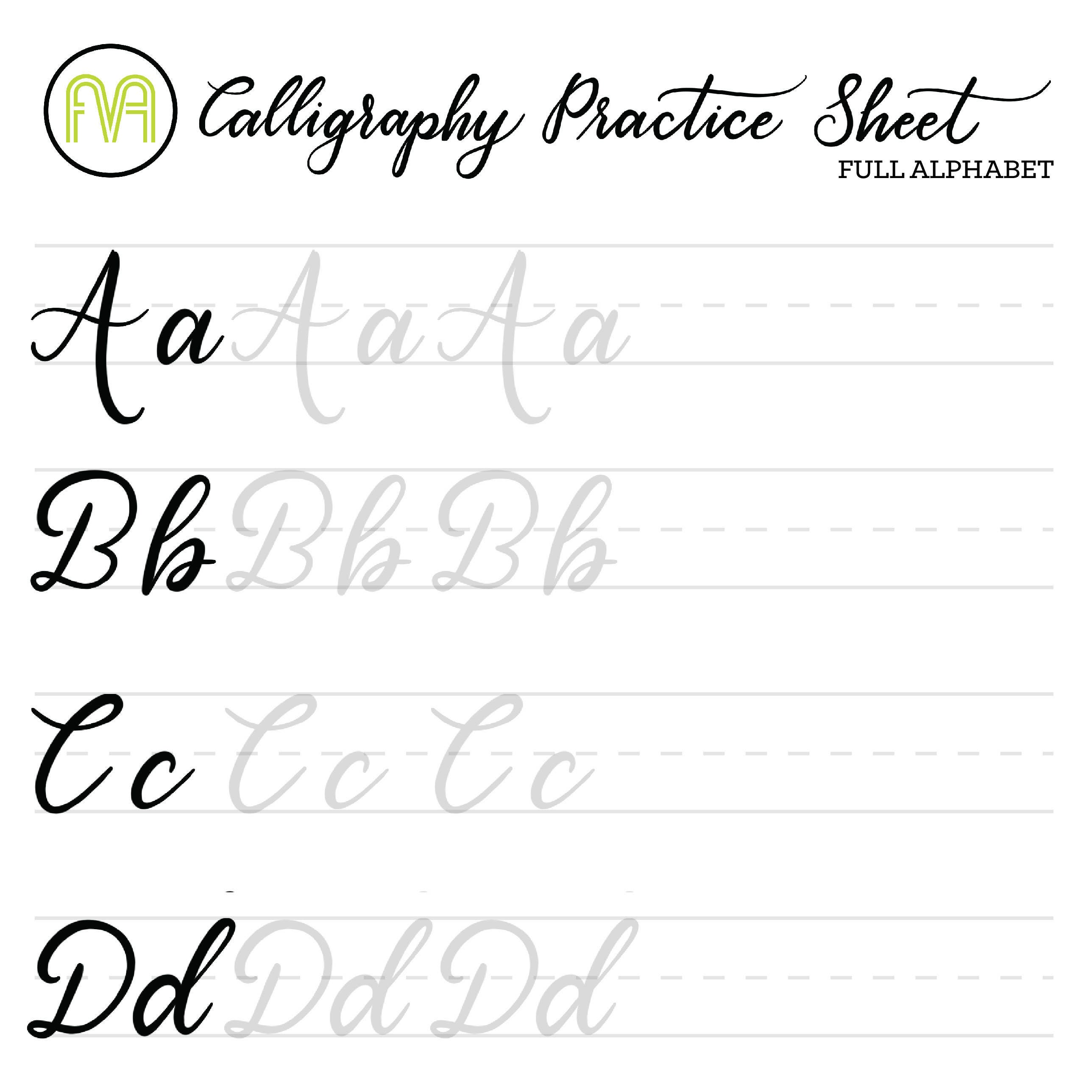 It's just a graphic of Current Calligraphy Practice Sheets Printable