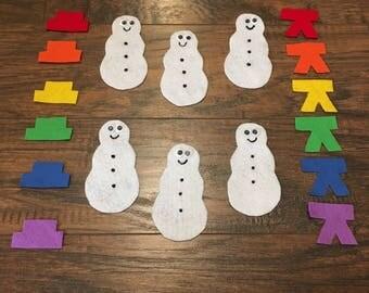 Felt Board Story - Snowman Color Match