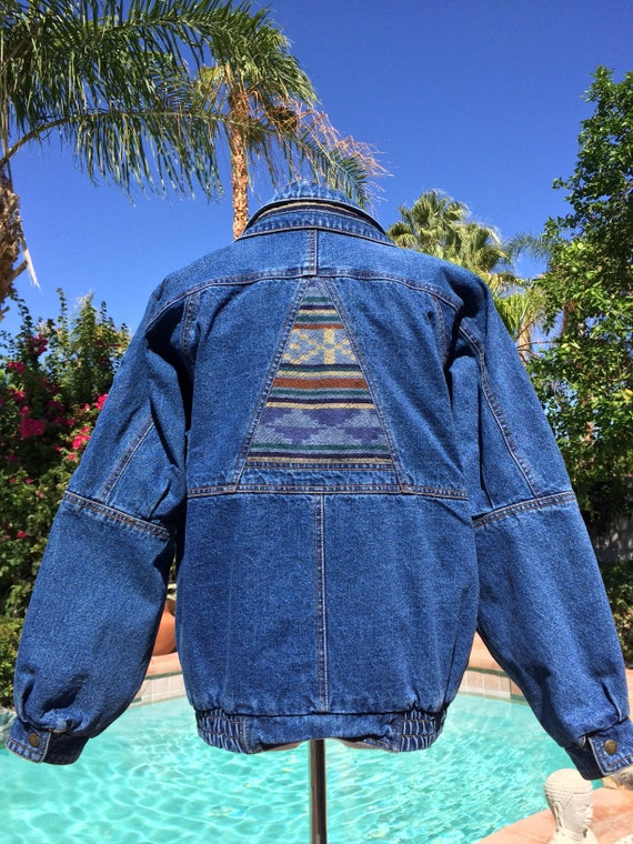 Denim  Vintage Blue  Jacket Southwestern Style, Current Seen Label,Size Small