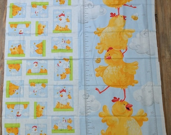 Pippa Growth Chart Panel Cotton Fabric from Susy Bee
