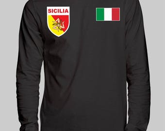 Sicily Unisex Long Sleeve T-Shirt