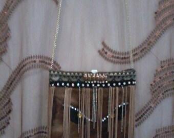 MAKEDA Shoulder bag with fringes
