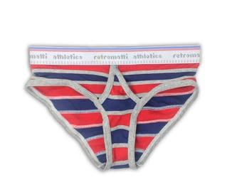 Bert and Ernie Retro Briefs Red Blue new jockey briefs 70s 80s stranger things mens underwear geek underwear, unique, vintage underwear
