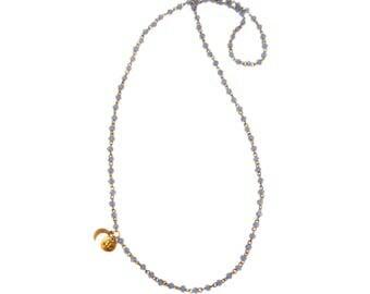 Mini Petite Lune Signature Rosary chain in Cornflower Blue