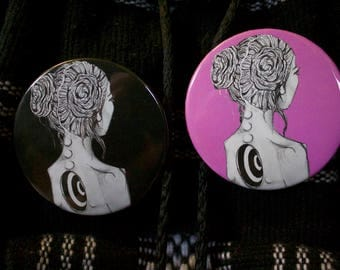 """Deep Button (Pink or Black) 2 1/4"""""""