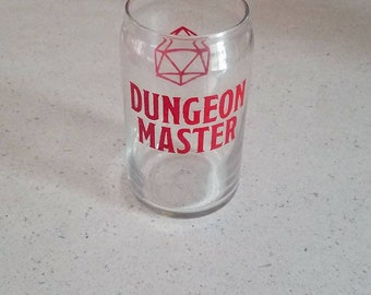 Dungeon Master pint glass / Dungeons and Dragons / D&D