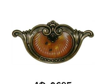 Art Deco Drawer Pull- Waterfall Style Drawer Pull- Bakelite Tortoise Shell