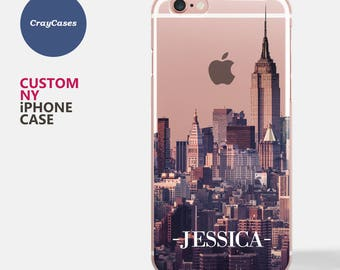 Custom New York Skyline iPhone 7 Case, New York Skyline iPhone 6s Case, iPhone 6 plus case, iPhone 6s Plus case (Ships From UK)