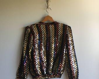 sequin jacket | button-down