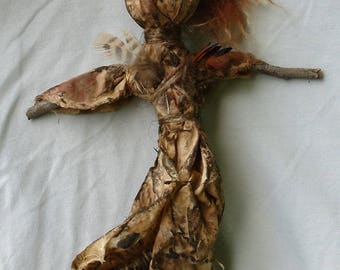 Primitive Guardian doll dancing with feathers FREE SHIPPING!