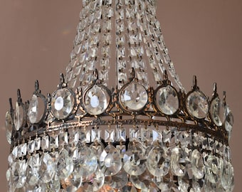vintage crystal chandelier lighting pendant lamp art nouveau chandelier home and living chandelier antique french luxury