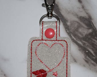 Heart Arrow Valentine's Day Keychain