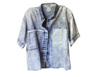 Acid Wash Vintage Top