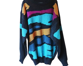 SALE - Color Swatch Vintage Sweater