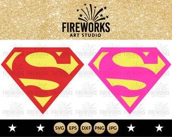 Superman svg - Superman clipart - Superman logo clip art digital download svg, png, dxf, eps and jpg - Instant download