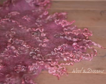 RTS Antique Rose Felted Layer Photography Prop for Newborn