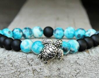 beaded bracelet turtle Jewelry stone Jewelry beach jewelry bead bracelet boho bracelet gemstone bracelet  turtle bracelet sea Jewelry  ocean