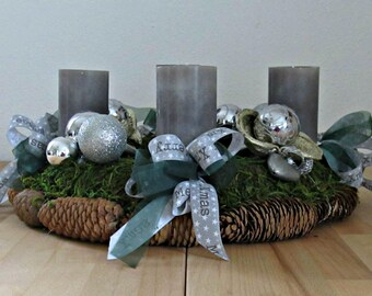 Advent wreath Moss