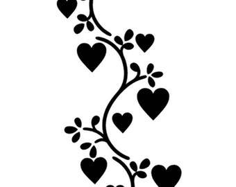Heart Vine stencil Template Scrapbooking