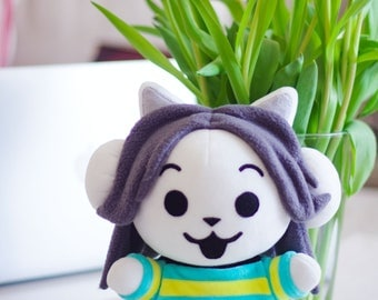 READY TO SHIP. Tem Shop Temmie Kitty Cat Monster Soft Toy Plushie Undertale